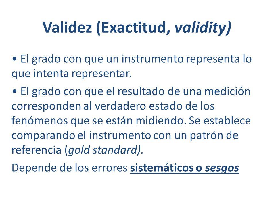 Validez (Exactitud, validity)