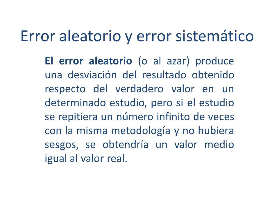 Error aleatorio y error sistemático
