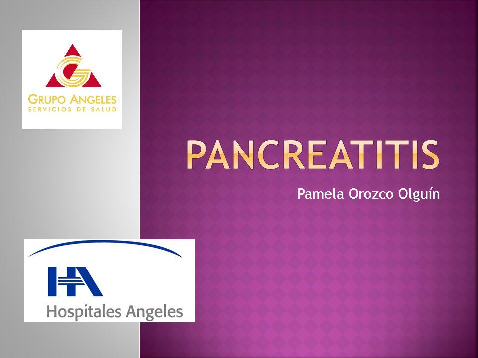 Pancreatitis Pamela Orozco Olguín