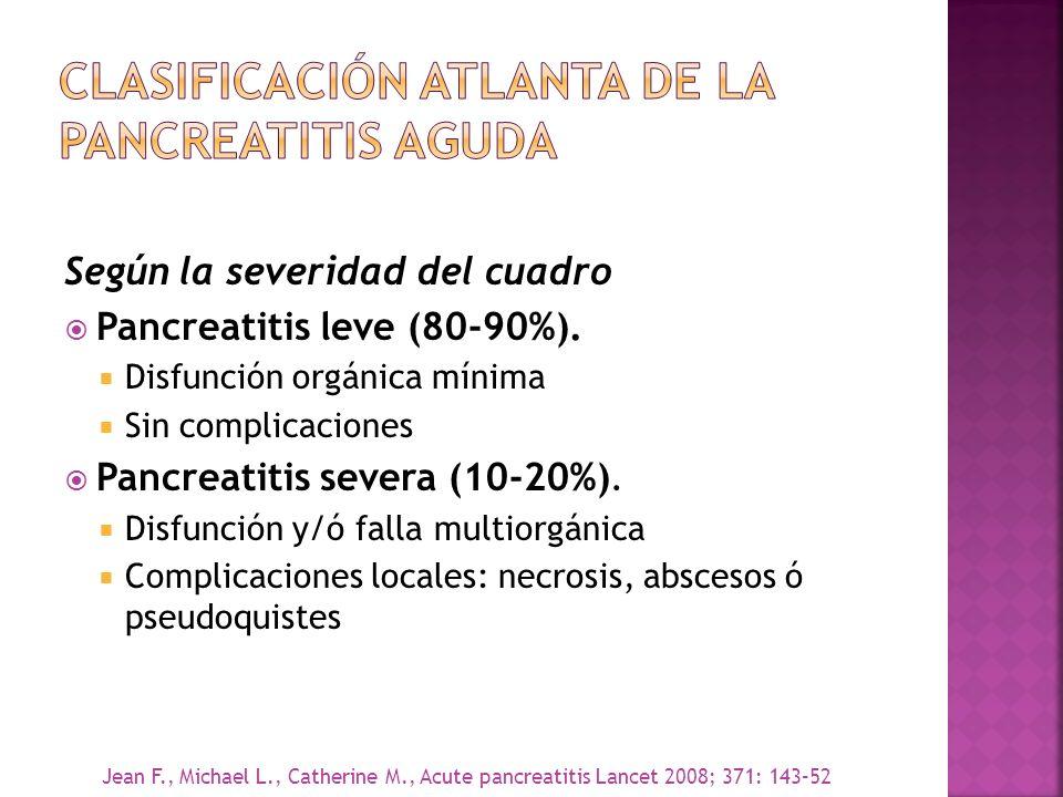 Clasificación Atlanta de la pancreatitis aguda
