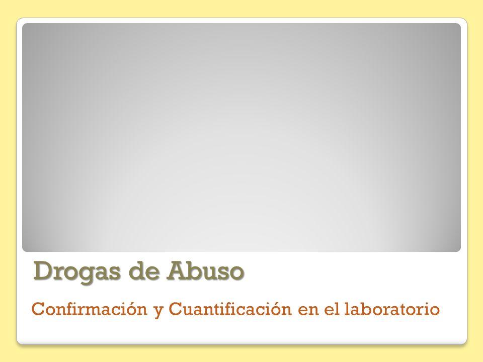 Drogas de Abuso Confirmación y Cuantificación en el laboratorio