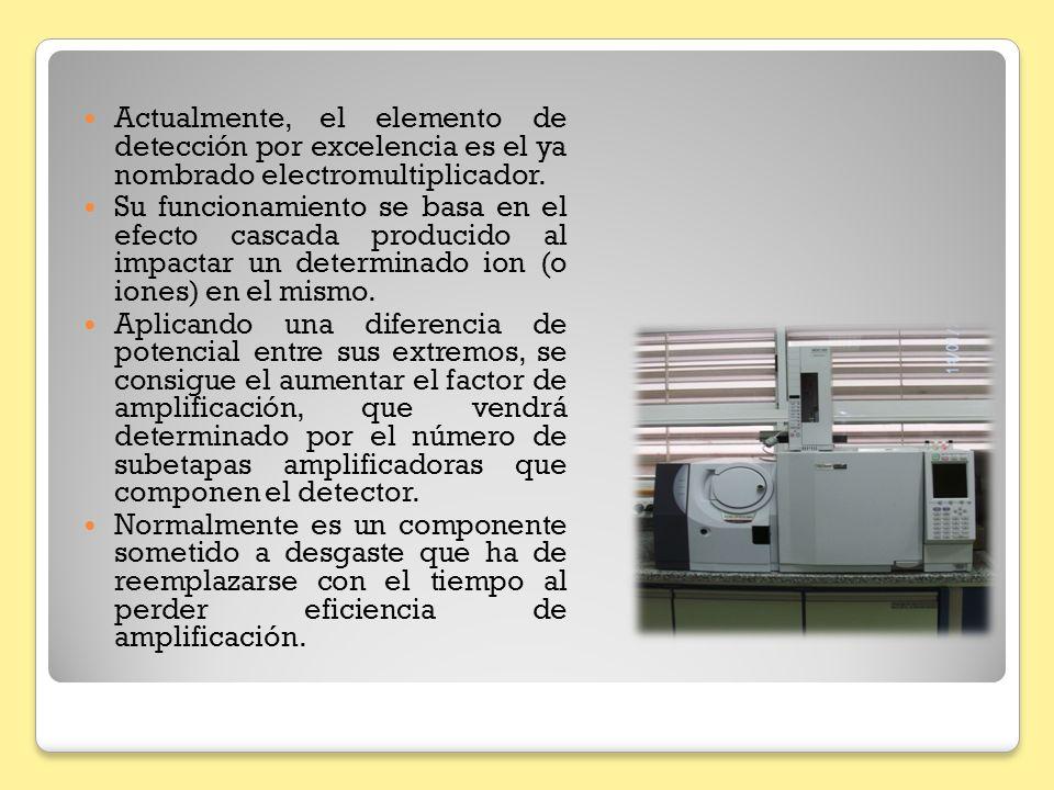 Actualmente, el elemento de detección por excelencia es el ya nombrado electromultiplicador.