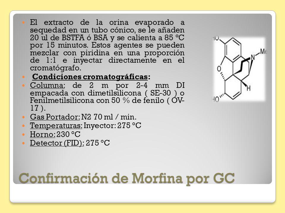 Confirmación de Morfina por GC