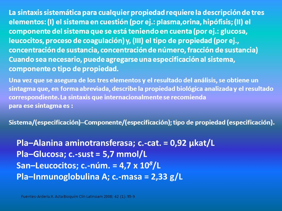 Pla–Alanina aminotransferasa; c.-cat. = 0,92 μkat/L