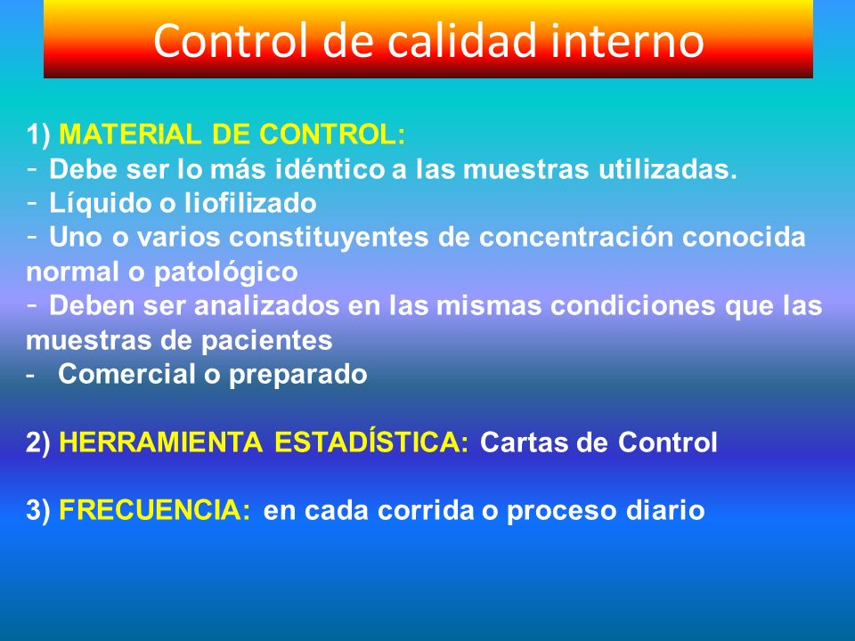 Control de calidad interno