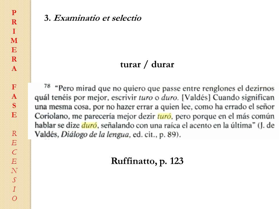 turar / durar Ruffinatto, p. 123
