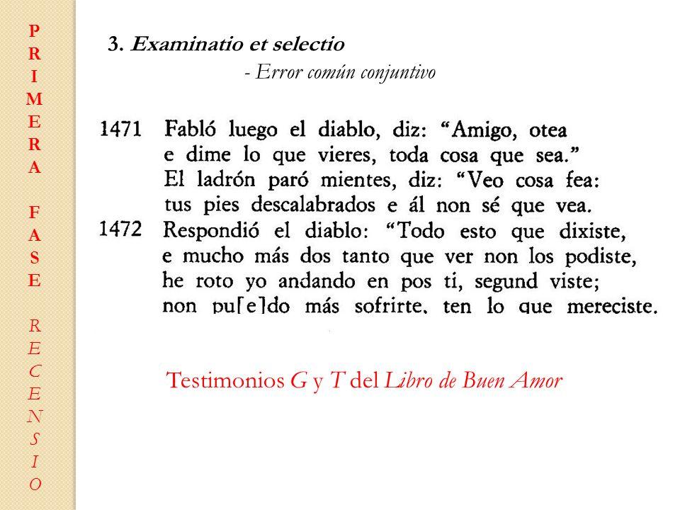 Testimonios G y T del Libro de Buen Amor