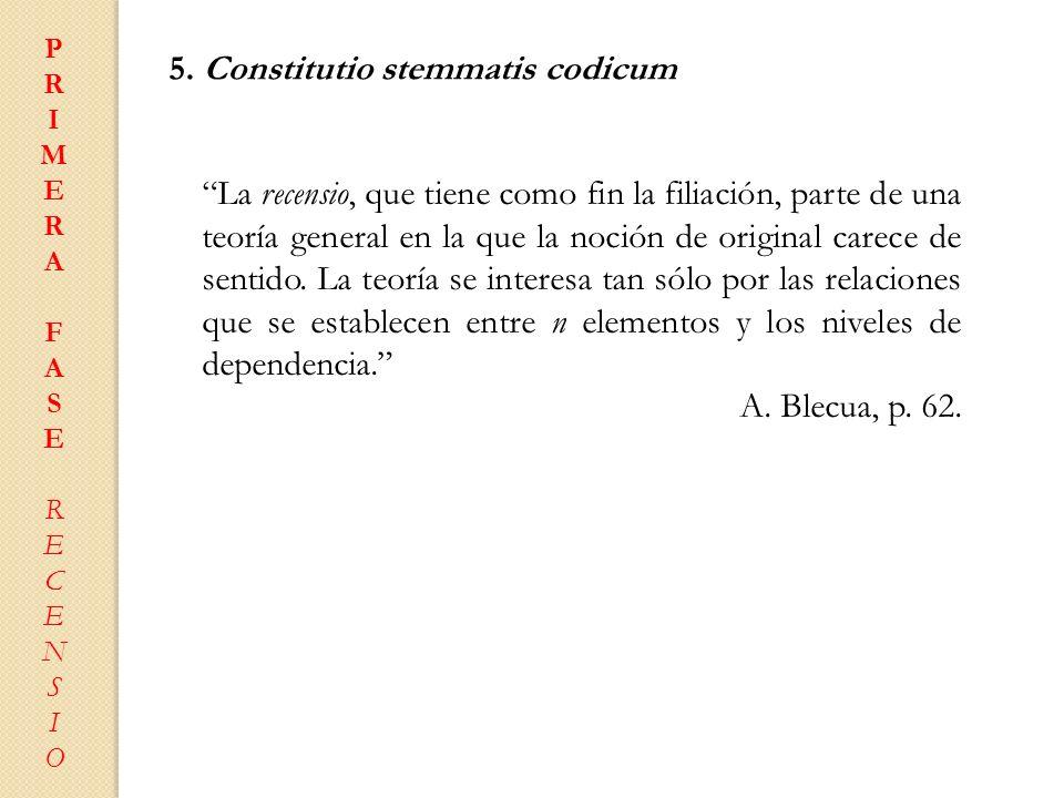 5. Constitutio stemmatis codicum