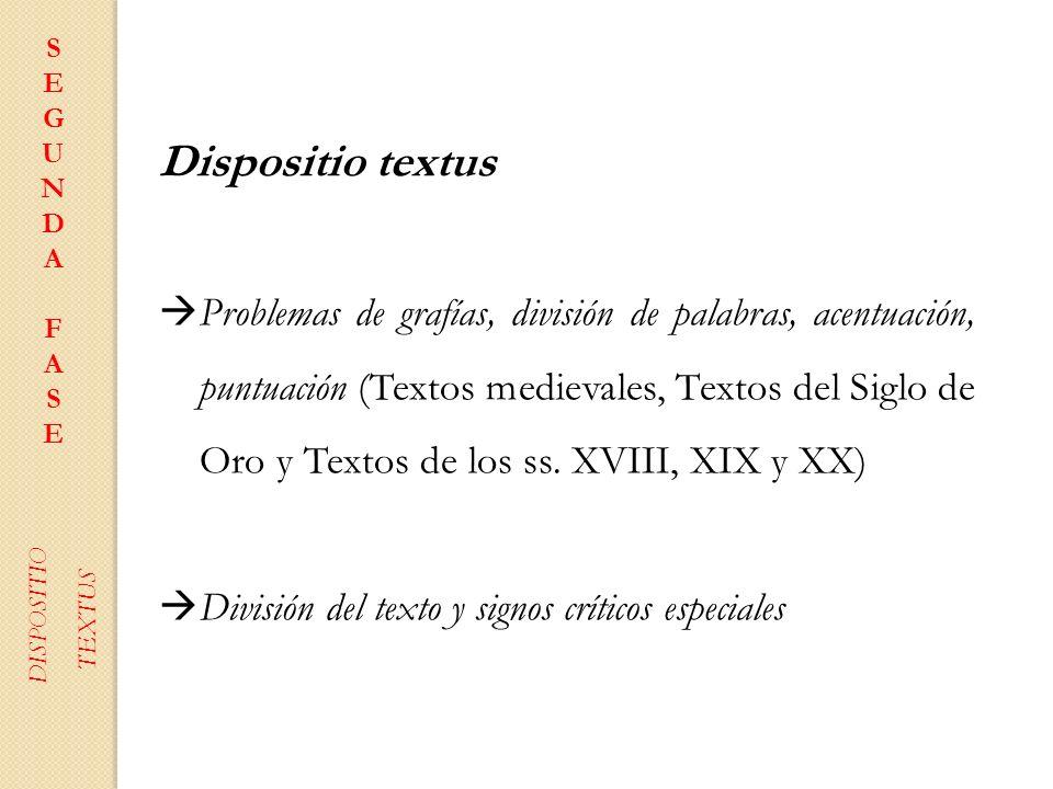 S E. G. U N D. A. F. Dispositio textus.