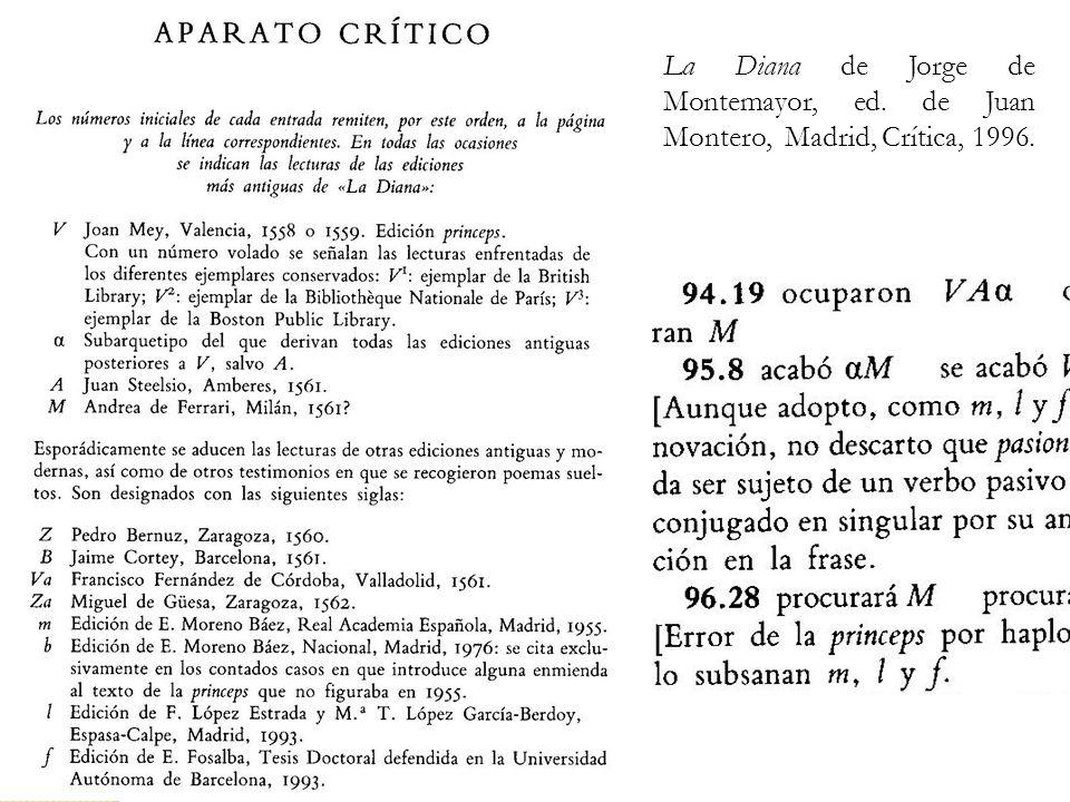 La Diana de Jorge de Montemayor, ed