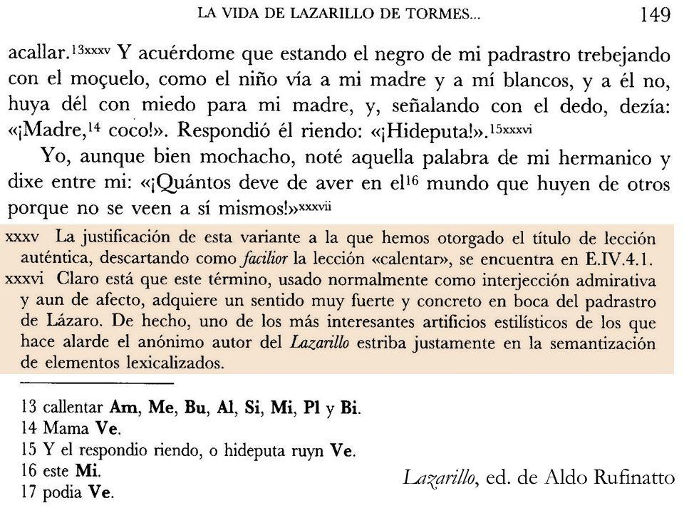 Lazarillo, ed. de Aldo Rufinatto