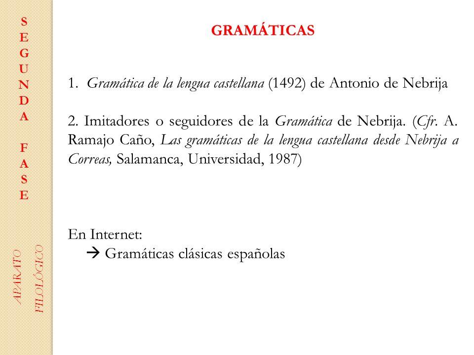 1. Gramática de la lengua castellana (1492) de Antonio de Nebrija