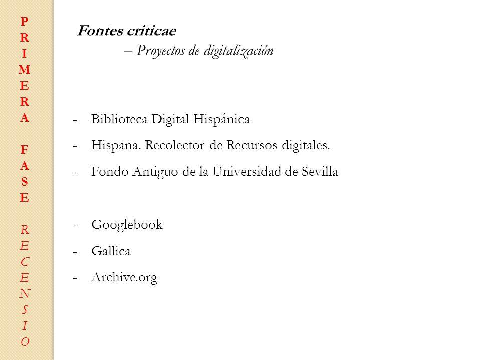 – Proyectos de digitalización