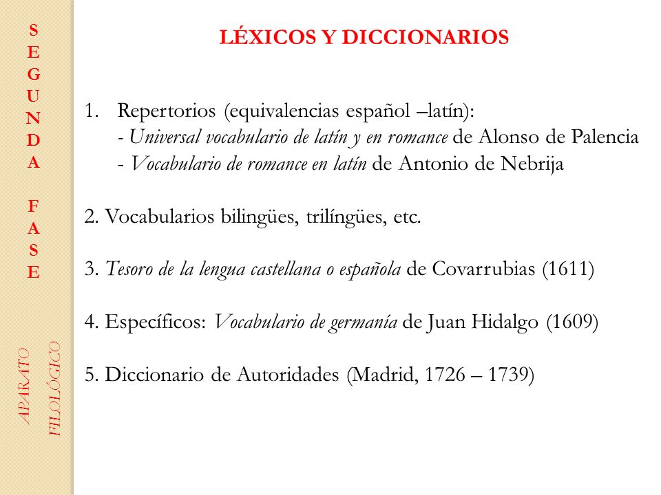 LÉXICOS Y DICCIONARIOS