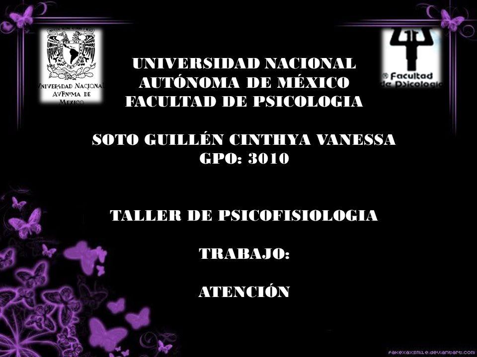 UNIVERSIDAD NACIONAL AUTÓNOMA DE MÉXICO FACULTAD DE PSICOLOGIA