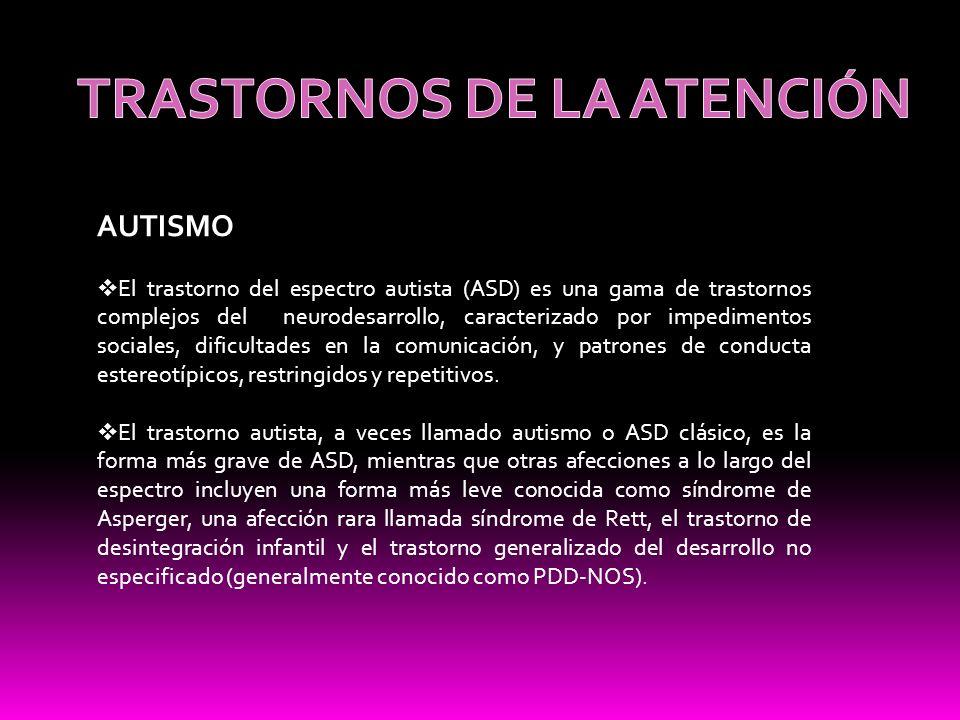 TRASTORNOS DE LA ATENCIÓN