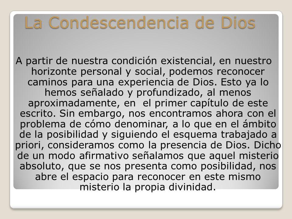 La Condescendencia de Dios
