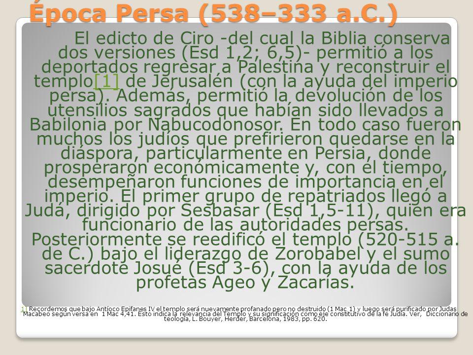 Época Persa (538–333 a.C.)