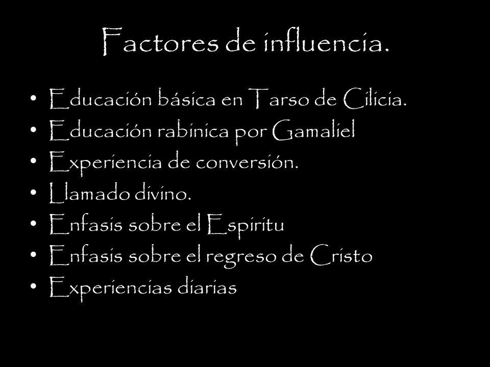 Factores de influencia.