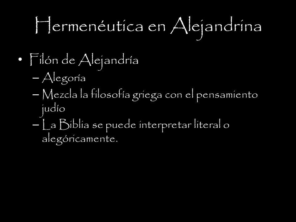 Hermenéutica en Alejandrina