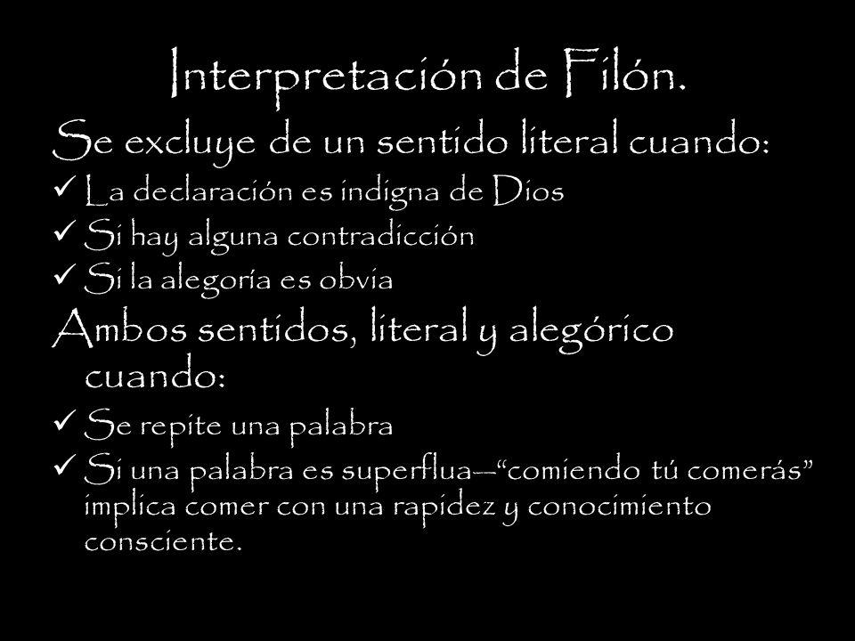 Interpretación de Filón.