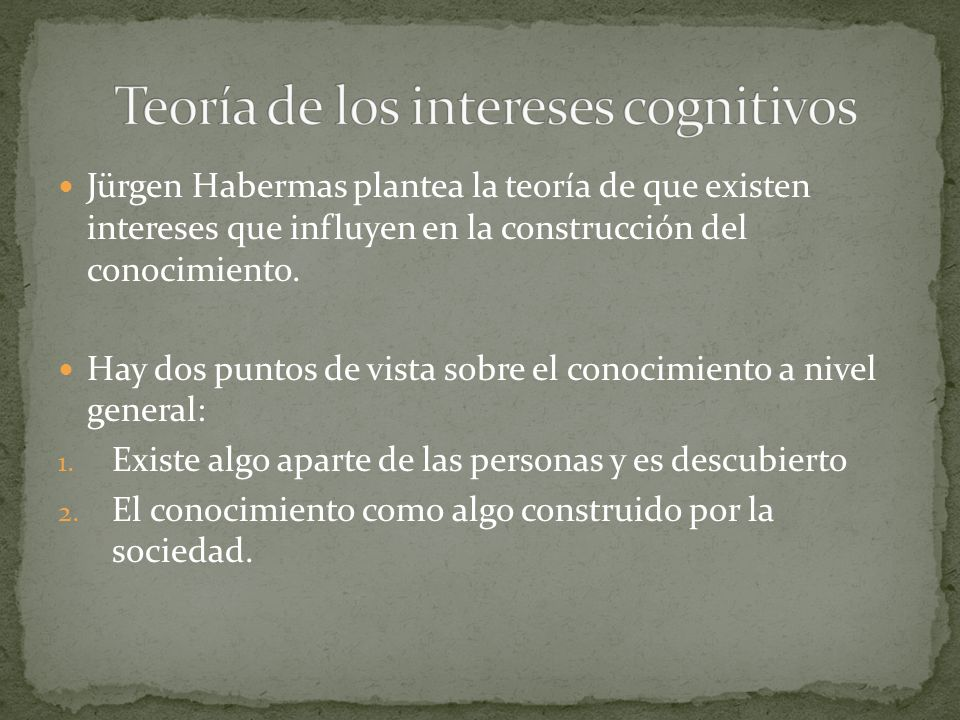 Teoría de los intereses cognitivos