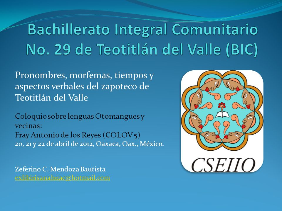 Bachillerato Integral Comunitario No. 29 de Teotitlán del Valle (BIC)