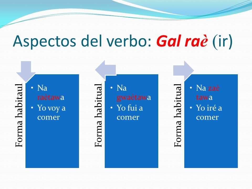 Aspectos del verbo: Gal raè (ir)