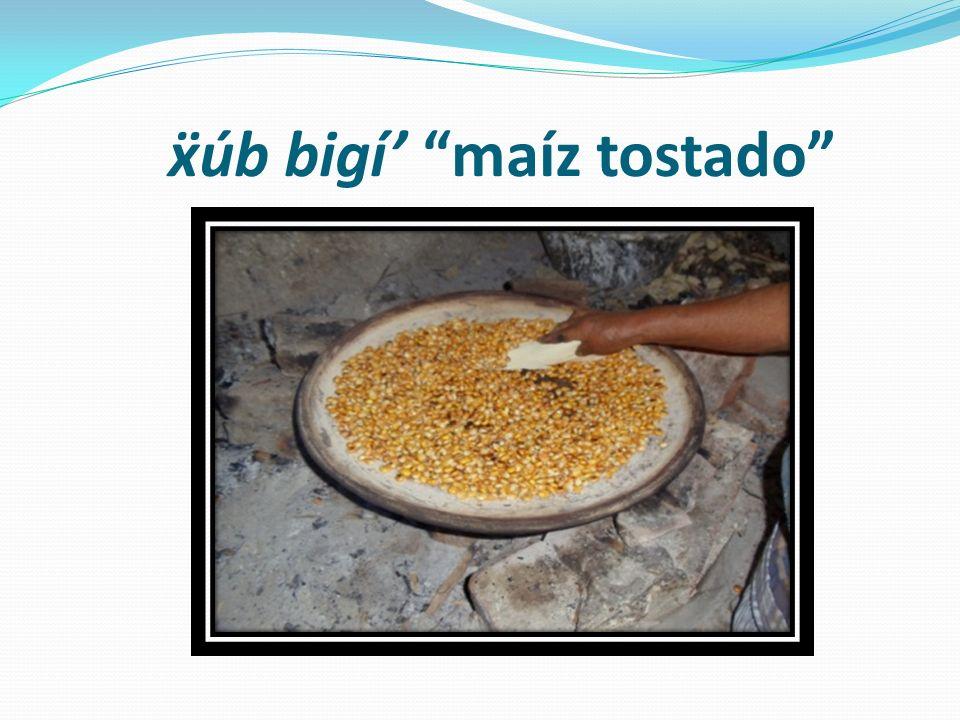 ẍúb bigí' maíz tostado