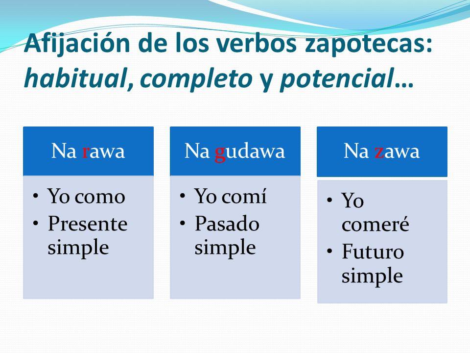 Afijación de los verbos zapotecas: habitual, completo y potencial…
