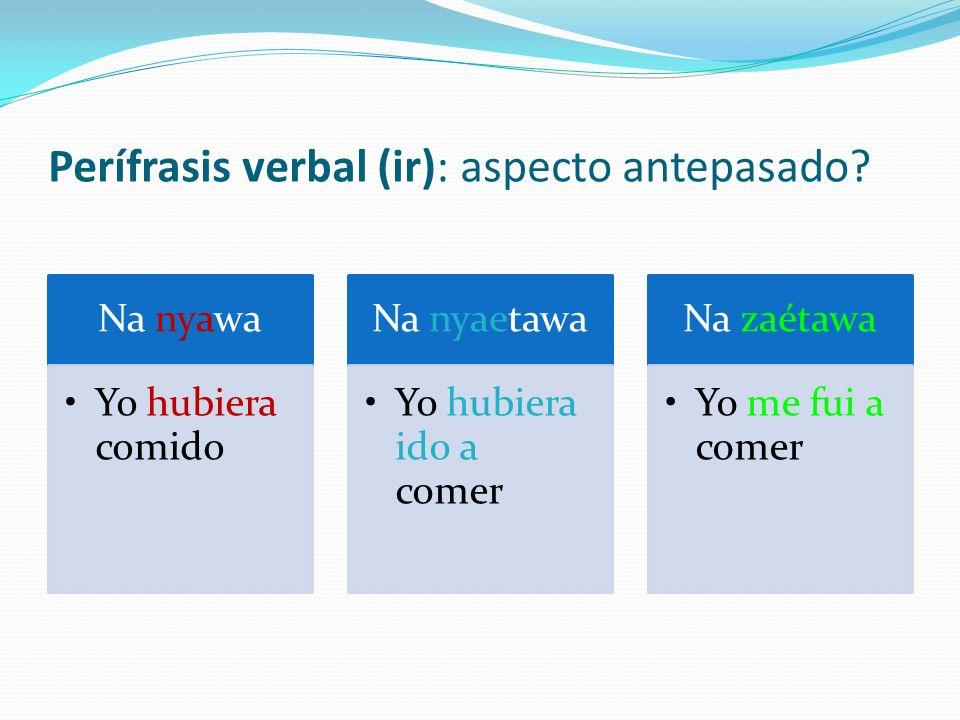 Perífrasis verbal (ir): aspecto antepasado