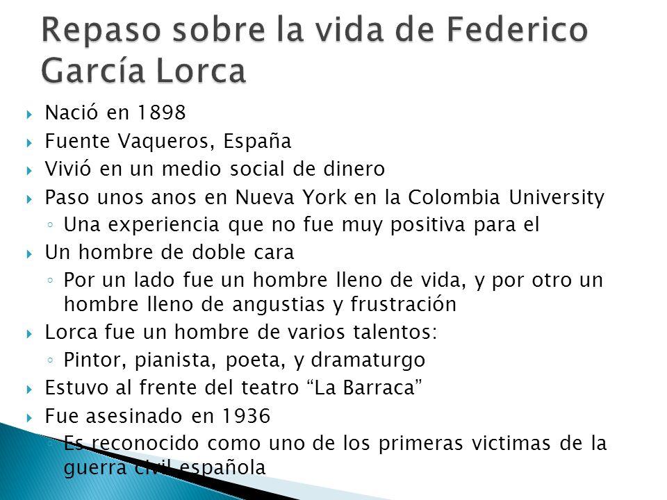 Repaso sobre la vida de Federico García Lorca