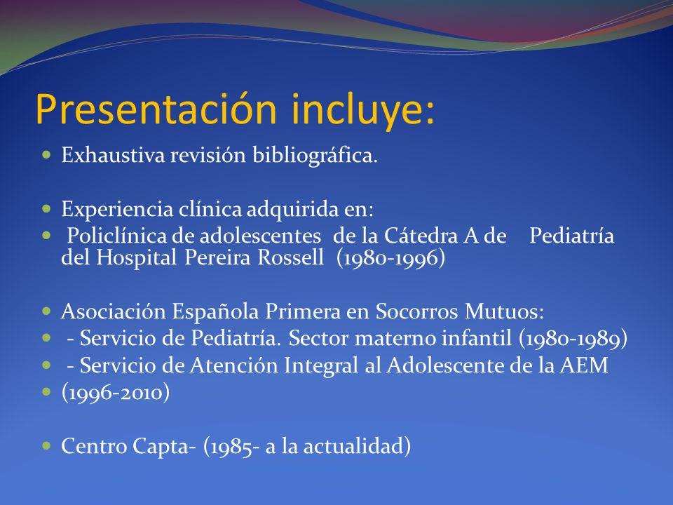 Presentación incluye: