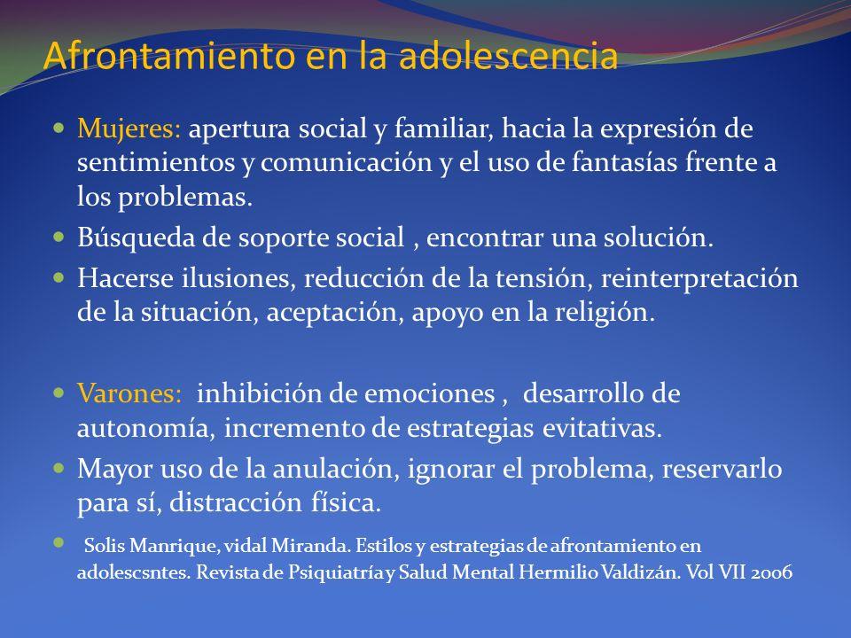 Afrontamiento en la adolescencia