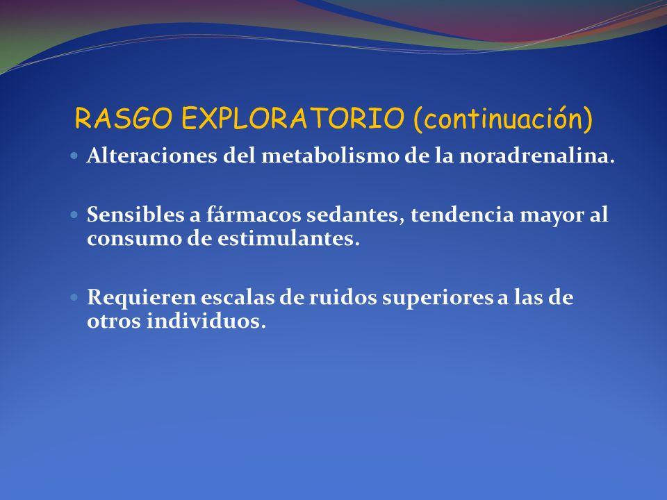 RASGO EXPLORATORIO (continuación)