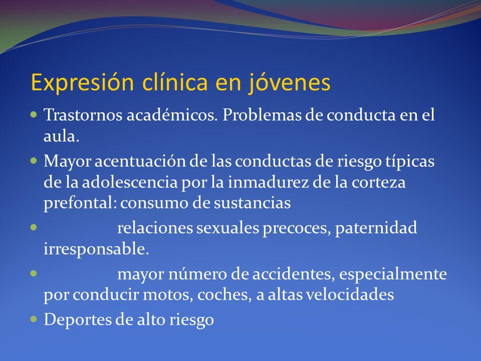Expresión clínica en jóvenes