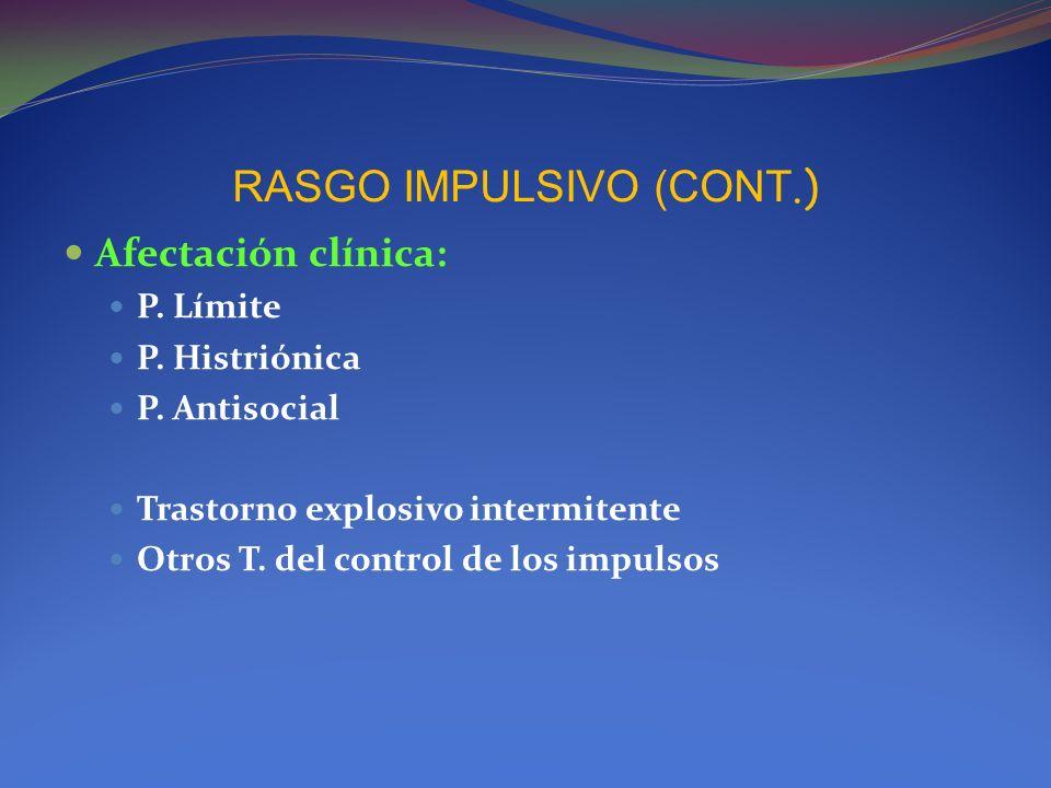 RASGO IMPULSIVO (CONT.)
