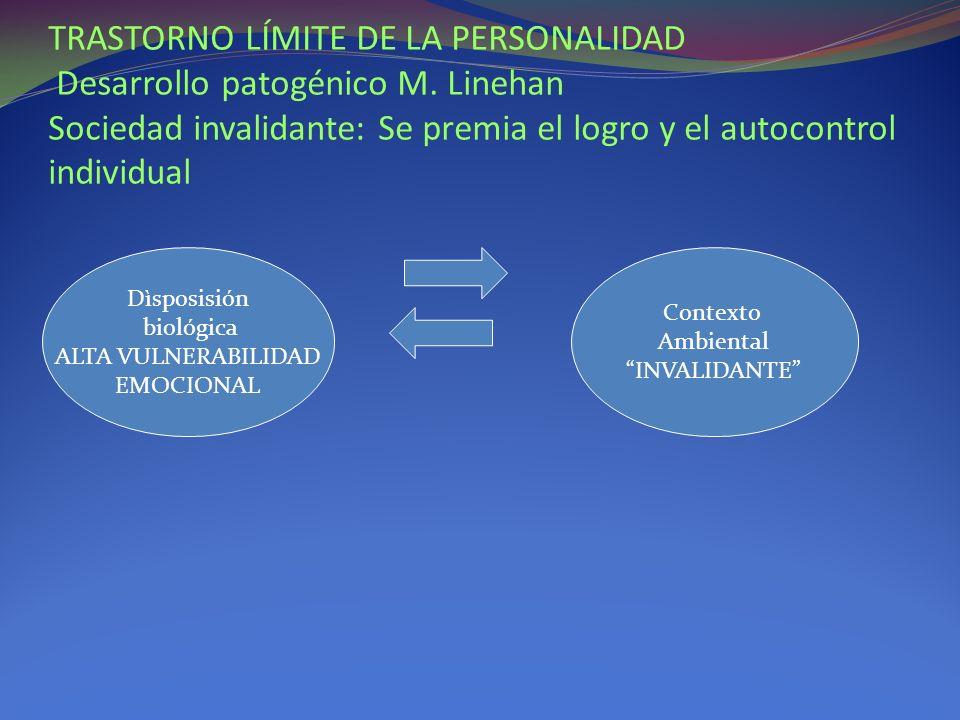 TRASTORNO LÍMITE DE LA PERSONALIDAD Desarrollo patogénico M