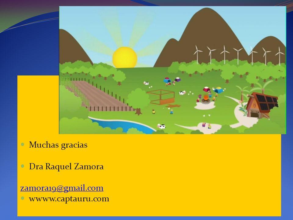 Muchas gracias Dra Raquel Zamora zamora19@gmail.com wwww.captauru.com