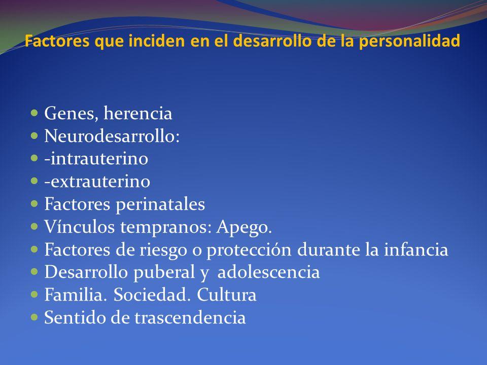 Factores que inciden en el desarrollo de la personalidad
