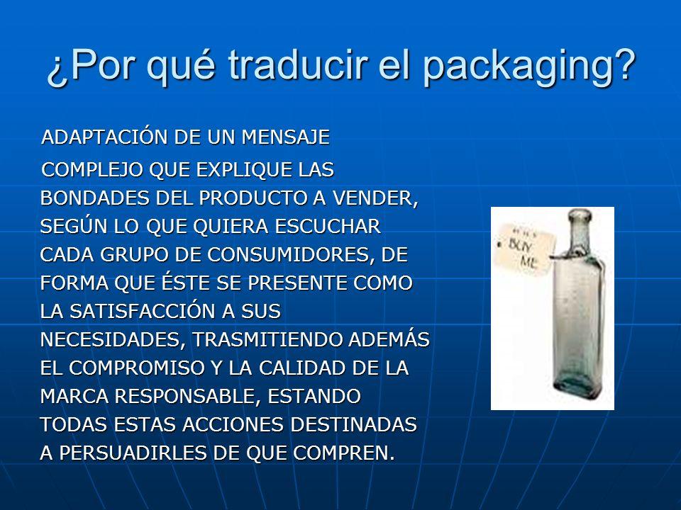 ¿Por qué traducir el packaging