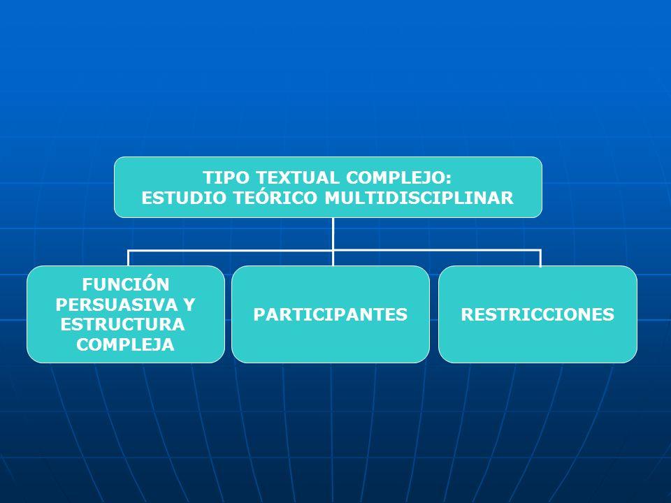 TIPO TEXTUAL COMPLEJO: ESTUDIO TEÓRICO MULTIDISCIPLINAR