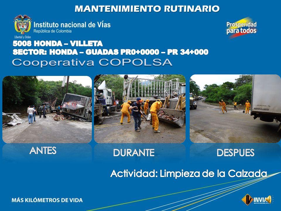 Cooperativa COPOLSA MANTENIMIENTO RUTINARIO ANTES DURANTE DESPUES