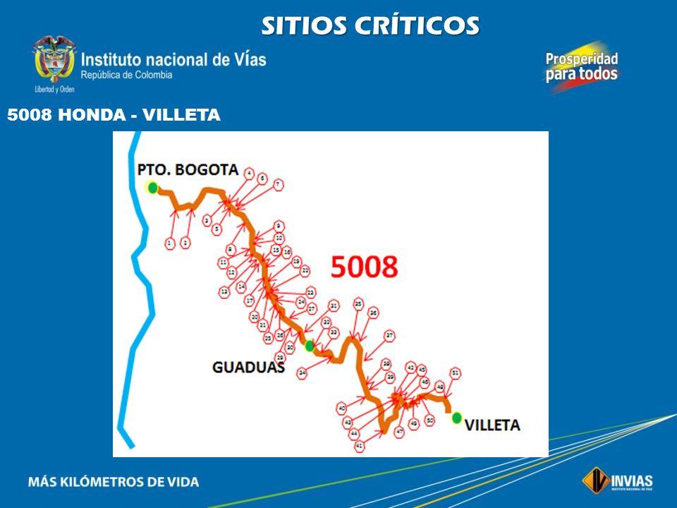 SITIOS CRÍTICOS 5008 HONDA - VILLETA