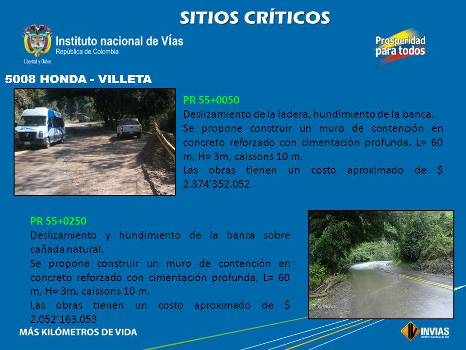 SITIOS CRÍTICOS 5008 HONDA - VILLETA PR 55+0050