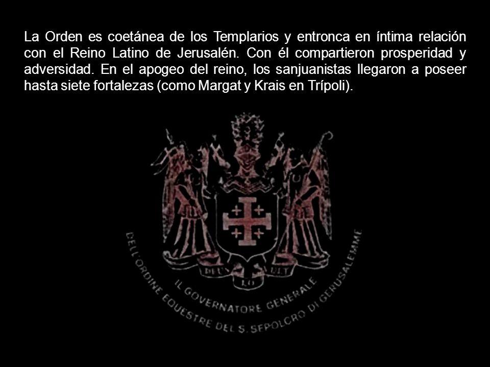 La Orden es coetánea de los Templarios y entronca en íntima relación con el Reino Latino de Jerusalén.