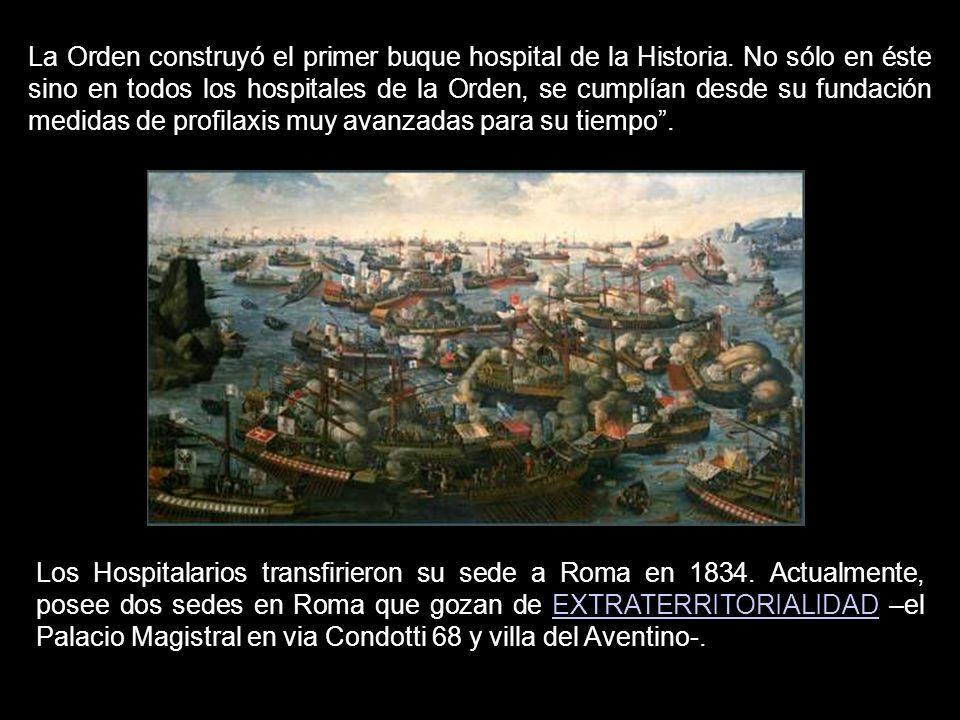 La Orden construyó el primer buque hospital de la Historia