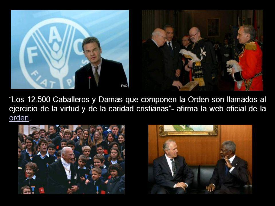 Los 12.500 Caballeros y Damas que componen la Orden son llamados al ejercicio de la virtud y de la caridad cristianas - afirma la web oficial de la orden.