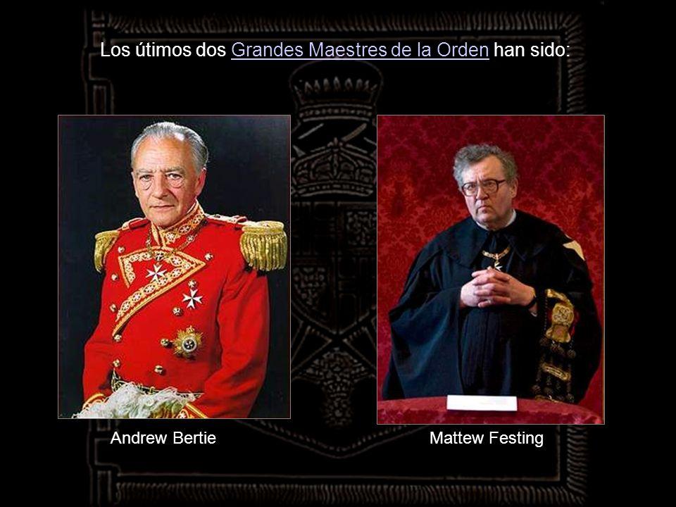 Los útimos dos Grandes Maestres de la Orden han sido: