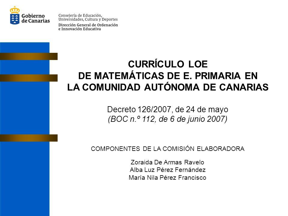 DE MATEMÁTICAS DE E. PRIMARIA EN LA COMUNIDAD AUTÓNOMA DE CANARIAS